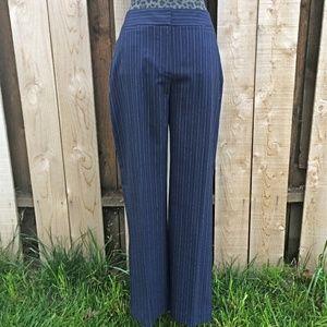 Chicos Navy Blue Pinstripe Dress Pants/Slacks